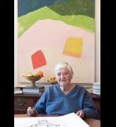 Etel Adnan. Copyright Etel Adnan, courtesy Galerie Lelong & Co. Paris.