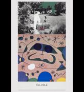 John Baldessari. Miró and Life in General: Reliable, 2016. Varnished inkjet print on canvas with acrylic paint, 95 11/16 x 49 in.  No. 19348. © John Baldessari, courtesy of the artist and Marian Goodman Gallery. Photograph: Joshua White.