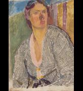 Vanessa Bell. Self–Portrait, c1915. Oil on canvas laid on panel, 63.8 x 45.9 cm. Yale Center for British Art, Paul Mellon Fund. © The Estate of Vanessa Bell, courtesy of Henrietta Garnett.