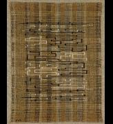 Annie Albers. <em>Black-White-Gold I</em> 1950. Pictorial weaving, 80 x 62.5 cm. Collection the Josef and Annie Albers Foundation. Photo Tim Nighswander.