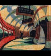 Cyril Power, The Tube Station, 1932. © The Estate of Cyril Power. All Rights Reserved, 2019 / Bridgeman Images.
