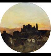 (Henry) Mark Anthony (1817–86). Sunset (also known as Rock of Cashel), c1847. Oil on canvas, 45 x 45 in (114 x 114 cm).