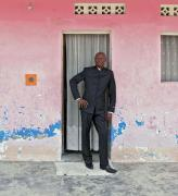 Bodys Isek Kingelez outside his home in Kinshasa, 2014. Courtesy André Magnin, Paris. Photograph: Fredi Casco.
