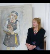 Joyce Cairns in her studio Broughty Ferry, May 2014. Photograph: Helen Glassford, Tatha Gallery Newport-on-Tay.