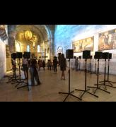 Janet Cardiff. The Forty Part Motet, 2001. View 1. Fuentidueña Chapel at The Cloisters museum and gardens. Image: The Metropolitan Museum of Art/Wilson Santiago.