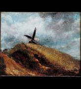 John Constable. A windmill near Brighton, 1824. Oil on canvas. Lent by Tate: Bequeathed by George Salting, 1910.