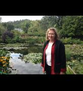 Ann Dumas in Giverny.