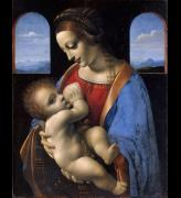 Leonardo da Vinci (1452&ndash;1519).<em> The Virgin and Child (The Madonna Litta)</em>, about 1491-5. Tempera on canvas, transferred from wood, 42 x 33 cm. &copy; The State Hermitage Museum, St Petersburg. 2011. (GE-249). Photo by Vladimir Terebenin, Leonard Kheifets, Yuri Molodkovets.