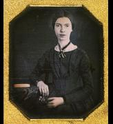 The only confirmed photograph of Emily Dickinson.        Circa 1847, from a daguerreotype.      Courtesy, Amherst College Library.