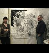 Asya Dodina and Slava Polishchuk in their studio. Photograph: Ida Polishchuk.