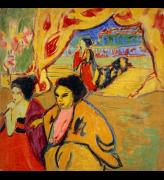Ernst Ludwig Kirchner. Japanisches Theater [Japanese Theatre], 1909. Oil on canvas, 113.7 x 113.7 cm. National Galleries of Scotland. Photo: Antonia Reeve.