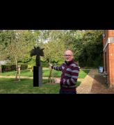 Robert Fitzmaurice and a visualisation of The Deity at Sandham Memorial Chapel. © the artist.