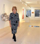 Leila Heller on opening night of her new gallery space at 17 East 76th Street.