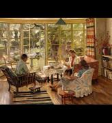 Charles HH Burleigh. <em>The Burleigh Family Taking Tea at Wilbury Crescent, Hove</em>, c1947, Geffrye Museum