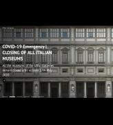 Uffizi, Florence, website homepage, screenshot captured 15 May 2020.