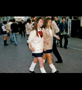 <p><em>Kogal wearing school uniform and loose socks</em>, 1997. Photo: © www.web-across.com (Parco Co., Ltd.)