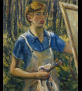 Lee Krasner. Self-Portrait, c1928. The Jewish Museum, New York. © The Pollock-Krasner Foundation. Courtesy the Jewish Museum, New York.