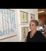 Mary Kuper at her exhibition Language Shift.