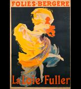 Jules Cheret. La Loie Fuller, 1893. Printer: Chaix (Ateilier Cheret), Paris. Lithograph in red, yellow, dark violet, and black ink on paper, 124 x 84 cm. Collection: The Hunterian, University of Glasgow.
