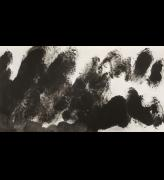 Li Huasheng. 0831, 2008. Ink on paper, 38 1/8 x 71 in (97 x 180.5 cm). Image courtesy Mayor Gallery.