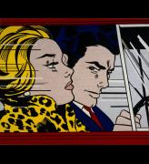 Roy Lichtenstein. In the Car, 1963. Oil and magna on canvas, 172 x 203.5 cm. Scottish National Gallery of Modern Art © The Roy Lichtenstein Foundation 2014.