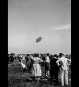 Anonymous. Airship Count Zeppelin landing at the Aspern Airfield near Vienna, 1931. Black-and-white photograph, 23 x 17 cm. © Austrian Archives / Imagno / picturedesk.com.