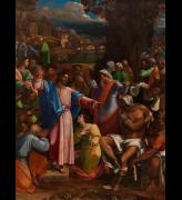 Sebastiano del Piombo, incorporating designs by Michelangelo. The Raising of Lazarus, 1517-19. Oil on synthetic panel, transferred from wood, 381 x 289.6 cm. © The National Gallery, London.