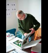 John Newling in his studio. Courtesy the artist.