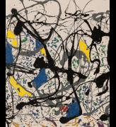 Jackson Pollock. Summertime: Number 9A, 1948 (detail). Oil paint, enamel paint and commercial paint on canvas © Tate, London 2018.