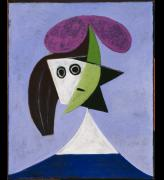 Pablo Picasso. Woman in a Hat (Olga), 1935. Centre Pompidou, Paris. Musée national d'art moderne. Copyright: Succession Picasso/DACS London, 2016. Photograph: Centre Pompidou, MNAM-CCI, Dist. RMN-Grand Palais/Rights reserved.