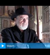 Michelangelo Pistoletto speaking to Studio International at Blenheim Palace, 14 September 2016. Photograph: Martin Kennedy.