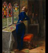 John Everett Millais. Mariana, 1851. Oil on mahogany, 59.7 × 49.5 cm. © Tate, London.