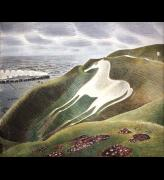Eric Ravilious, The Westbury Horse, 1939. Reproduced by kind permission 