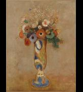 Odilon Redon. <em>Wildflowers in a long-neck vase</em>, before 1905. Oil on canvas 25 &frac34; x 19 7/8 in. Musuem of Modern Art, New York, Gift of the Ian Woodner Family Collection, 2000.