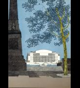 Illustration of the Royal Festival Hall taken from The Official Record, 1951 published by Max Parrish. Copyright the Royal Festival Hall Archives