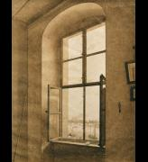Caspar David Friedrich. <em>View from the Artist's Studio, Window on the Left</em>. C1805-06