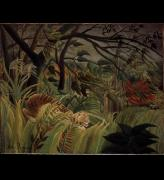 Henri Rousseau. <em>Tiger in a Tropical Storm (Suprised!)</em> 1891. The National Gallery, London.