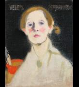 Helene Schjerfbeck. Self-portrait, Black Background, 1915. Oil on canvas, 45.5 x 36 cm. Herman and Elisabeth Hallonblad Collection. Finnish National Gallery / Ateneum Art Museum. Photo: Yehia Eweis.
