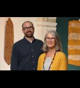 Curator Henry Skerritt and Director Margo Smith.