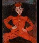Chaïm Soutine. Bellboy, c1925. Oil on canvas, 98 x 80.5 cm. Centre Georges Pompidou, Paris, Musee national dart moderne Centre de creation industrielle.