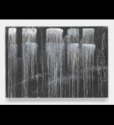 Pat Steir. Dragon Tooth Waterfall, 1990. Oil on canvas, 92 x 132 1/2 in (233.7 x 336.6 cm). © Pat Steir, 2016. Courtesy Dominique Lévy, New York / London.