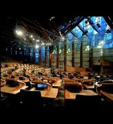 Scottish Parliament Debating Chamber. Photo credit: Keith Hunter.