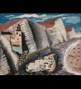 John Piper. Beach and Star Fish, Seven Sister's Cliff, Eastbourne, 1933-34. Gouache, pen and ink with collage of paper and fabric, 38.4 x 49.8 cm. Jerwood Collection. © The Piper Estate / DACS 2016. Image courtesy of Jerwood Gallery.