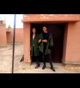 Esme Toler and Olì Bonzanigo at the Marrakech Biennale 2014. Photograph: Harriet Thorpe.