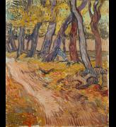 Vincent van Gogh, Path in the Garden of the Asylum, 1889. Oil paint on canvas, 61.4 x 50.4 cm. Collection Kröller-Müller Museum, Otterlo.