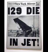 Andy Warhol. 129 Die in Jet! 1962. Acrylic and pencil on canvas, 100 x 72 in (254 x 182.9 cm). Installation view, photo: Jill Spalding.