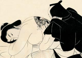 Komura Settai, Tattoo. Original drawing for an illustration in Oden jigoku by Kunieda Kanji (for Meisaku Soga Zenshu, vol. 1), 1935. Collection The Museum of Modern Art, Saitama.