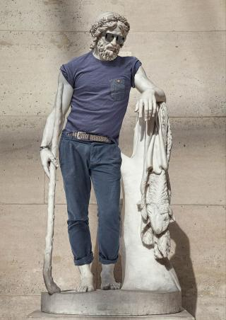 Léo Caillard, from the series Hipsters in Stone, 2013. Photograph courtesy Sebastien Adrien Gallery – Paris.