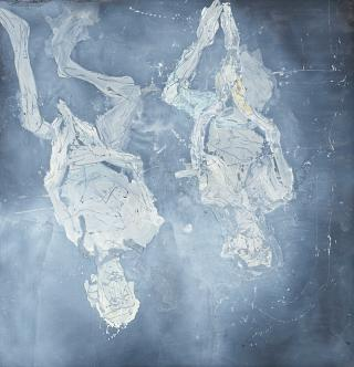 Georg Baselitz. A poor future (Eine schlechte Zukunft), 2015. Oil on canvas, 118 1/8 x 114 3/16 in (300 x 290 cm). © Georg Baselitz. Photograph © Jochen Littkemann. Courtesy White Cube.