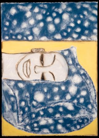 Francesco Clemente, Musica da camera IV, 1994. Pastel on paper, 26 3/8 x 19 in (67 x 48.3 cm). Collection of the artist, New York. Courtesy of Francesco Clemente Studio. Photo: Tom Powel Imaging.
